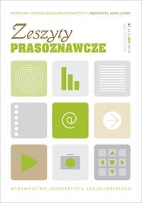 Zeszyty Prasoznawcze, 2014/12, Tom 57, Numer 4 (220)