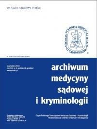Archiwum Medycyny Sądowej i Kryminologii