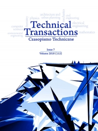 Czasopismo Techniczne, 2018/7, Volume 7