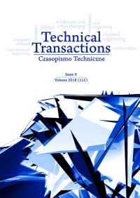 Czasopismo Techniczne, 2018/8, Volume 8