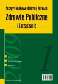 Zdrowie Publiczne i Zarządzanie, 2009/1, Tom 7, Numer 1
