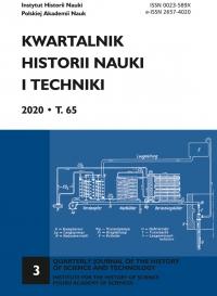 Kwartalnik Historii Nauki i Techniki, 2020/9, Issue 3