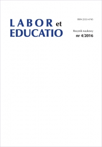 Labor et Educatio, 2016/1, 4 (2016)