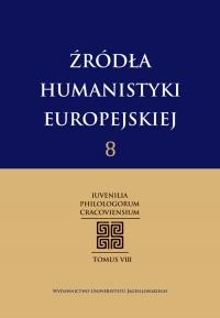 Źródła Humanistyki Europejskiej , 2015/1, Tom 8