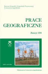 Prace Geograficzne, 2018/9, Zeszyt 154