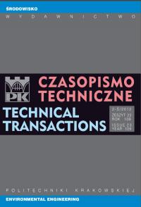 Czasopismo Techniczne, 2012/10, Środowisko Zeszyt 2-Ś (23) 2012