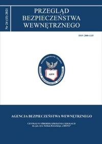 Przegląd Bezpieczeństwa Wewnętrznego, 2021/4, Numer 24