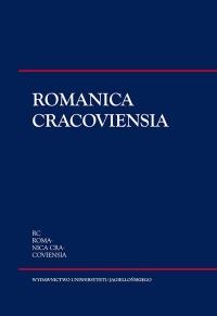 Romanica Cracoviensia, 2015/1, Tom 15, Numer 1