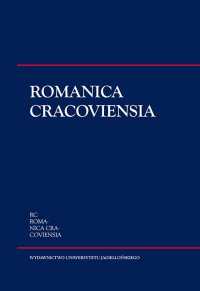 Romanica Cracoviensia, 2016/9, Tom 16, Numer 1