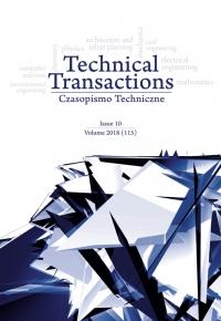 Czasopismo Techniczne, 2018/10, Volume 10