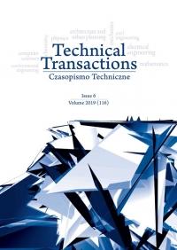 Czasopismo Techniczne, 2019/6, Volume 6