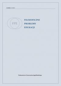 Filozoficzne Problemy Edukacji, 2020/10, Volume 3 (2020)