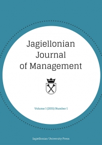Jagiellonian Journal of Management, 2015/1, Numer 1