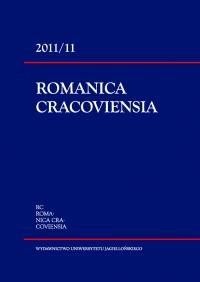 Romanica Cracoviensia, 2011/1, Tom 11, Numer 1