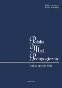 Polska Myśl Pedagogiczna, 2016/1, Numer 2