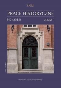Prace Historyczne, 2015/1, Numer 142 (1)