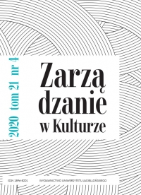 Zarządzanie w Kulturze, 2020/12, Tom 21, Numer 4
