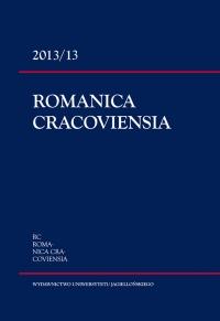Romanica Cracoviensia, 2013/12, Tom 13, Numer 1