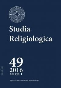 Studia Religiologica, 2016/1, Tom 49, Numer 1
