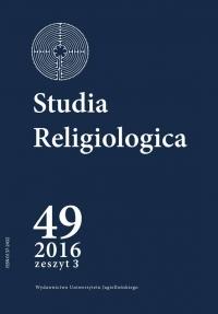 Studia Religiologica, 2016/11, Tom 49, Numer 3