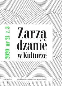 Zarządzanie w Kulturze, 2020/10, Tom 21, Numer 3